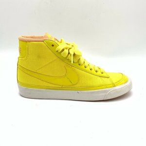 Nike Womens Blazer Sneakers Yellow Lace Up 7